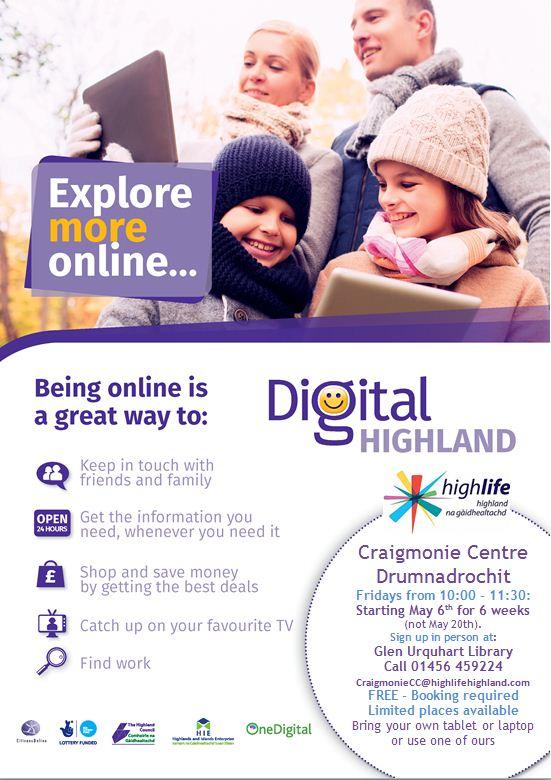Digital highlands poster craigmonie